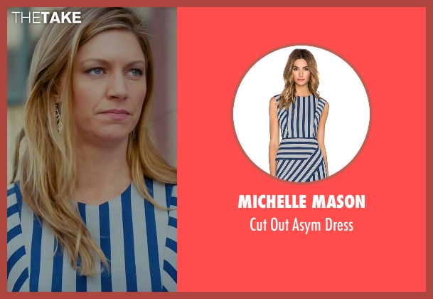 Michelle Mason blue dress from Mistresses seen with Josslyn Carver (Jes Macallan)