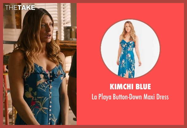 Kimchi Blue blue dress from Mistresses seen with Josslyn Carver (Jes Macallan)