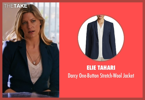 Elie Tahari blue jacket from Mistresses seen with Josslyn Carver (Jes Macallan)