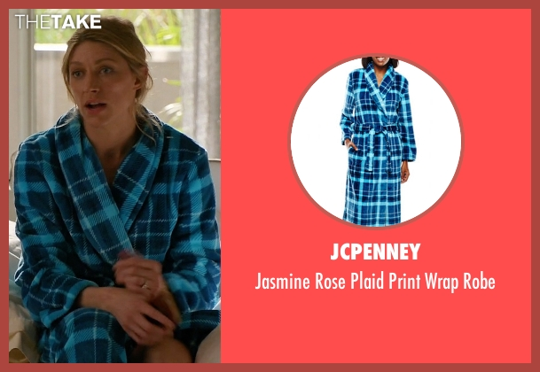 JCPenney blue robe from Mistresses seen with Josslyn Carver (Jes Macallan)