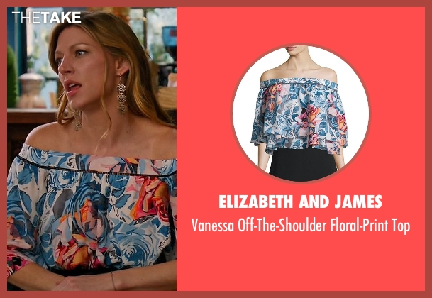 Elizabeth and James blue top from Mistresses seen with Josslyn Carver (Jes Macallan)