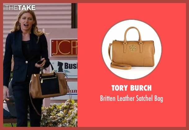 Tory Burch brown bag from Mistresses seen with Josslyn Carver (Jes Macallan)
