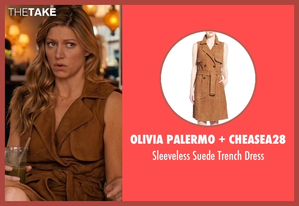Olivia Palermo + Cheasea28 brown dress from Mistresses seen with Josslyn Carver (Jes Macallan)