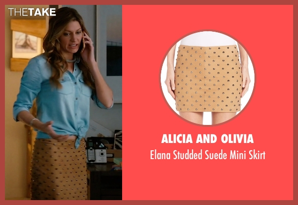 Alicia and Olivia brown skirt from Mistresses seen with Josslyn Carver (Jes Macallan)