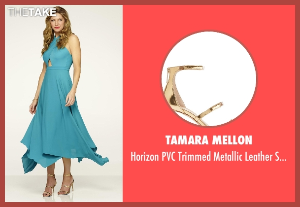 Tamara Mellon gold sandals from Mistresses seen with Josslyn Carver (Jes Macallan)