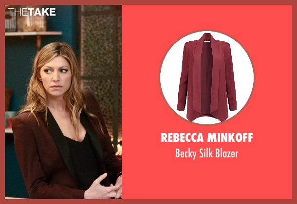 Rebecca Minkoff red blazer from Mistresses seen with Josslyn Carver (Jes Macallan)