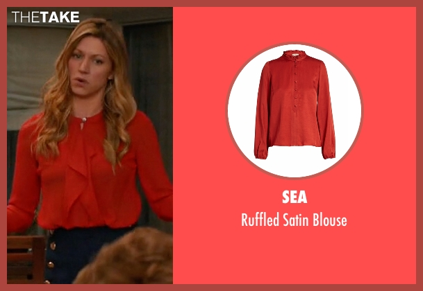 Sea red blouse from Mistresses seen with Josslyn Carver (Jes Macallan)