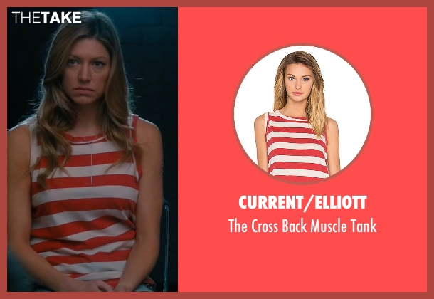 Current/Elliott red tank from Mistresses seen with Josslyn Carver (Jes Macallan)