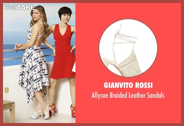 Gianvito Rossi white sandals from Mistresses seen with Josslyn Carver (Jes Macallan)