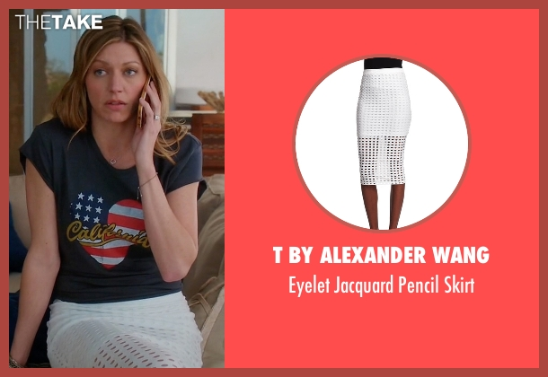 T By Alexander Wang white skirt from Mistresses seen with Josslyn Carver (Jes Macallan)