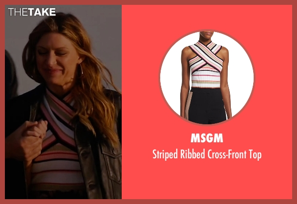 MSGM white top from Mistresses seen with Josslyn Carver (Jes Macallan)