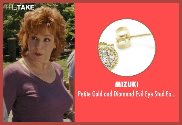 Mizuki gold earrings from Hall Pass seen with Joy Behar (Dr. Lucy)