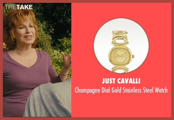 Just Cavalli gold watch from Hall Pass seen with Joy Behar (Dr. Lucy)