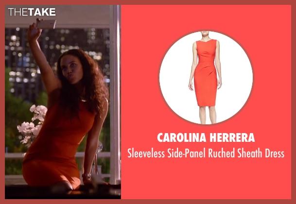 Carolina Herrera orange dress from About Last Night seen with Joy Bryant (Debbie)