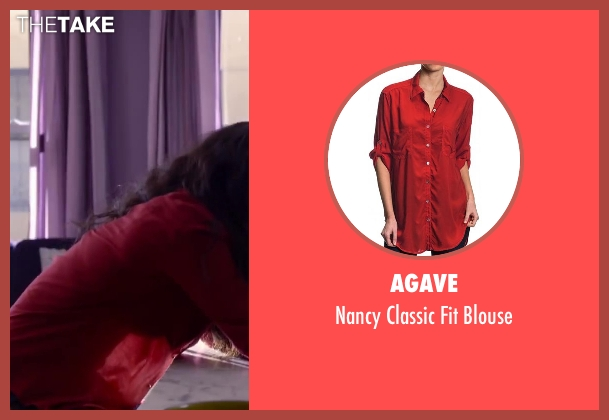 Agave red blouse from About Last Night seen with Joy Bryant (Debbie)
