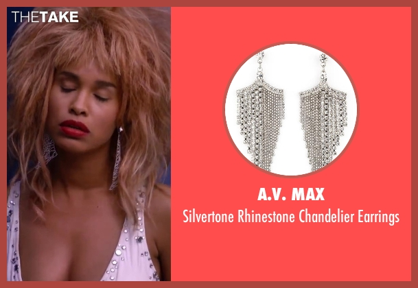 A.V. Max silver earrings from About Last Night seen with Joy Bryant (Debbie)