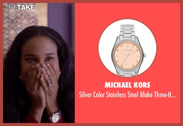 Michael Kors watch from About Last Night seen with Joy Bryant (Debbie)