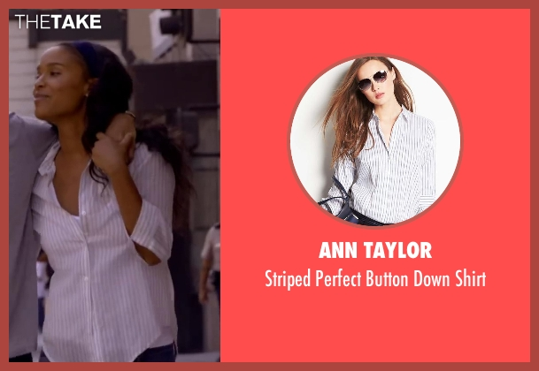 Ann Taylor white shirt from About Last Night seen with Joy Bryant (Debbie)