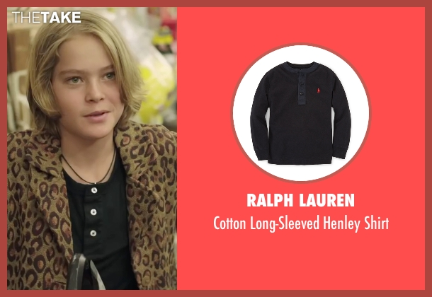 Ralph Lauren black shirt from Demolition seen with Judah Lewis (Chris Moreno)