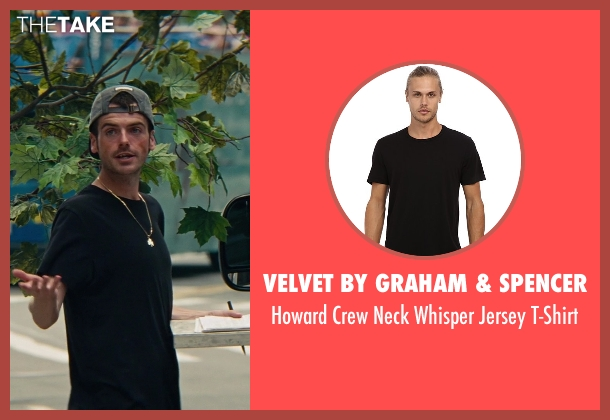 Velvet by Graham & Spencer black t-shirt from The Other Woman seen with Jude Donnelly (Tow Truck Driver)