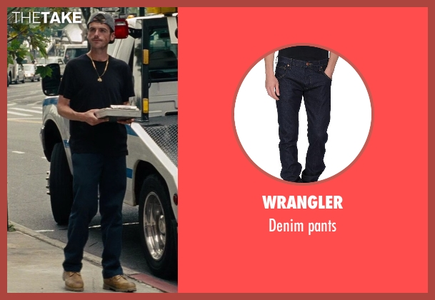 Wrangler blue pants from The Other Woman seen with Jude Donnelly (Tow Truck Driver)