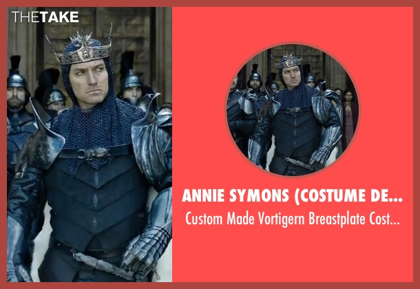 Annie Symons (Costume Designer) costume from King Arthur: Legend of the Sword seen with Jude Law (Vortigern)