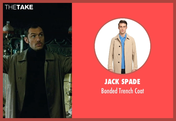 Jack Spade beige coat from Sherlock Holmes: A Game of Shadows seen with Jude Law (Dr. John Watson)