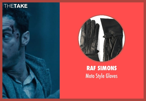 Raf Simons black gloves from Sherlock Holmes: A Game of Shadows seen with Jude Law (Dr. John Watson)