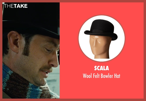Scala black hat from Sherlock Holmes: A Game of Shadows seen with Jude Law (Dr. John Watson)