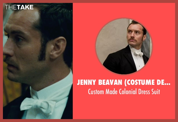 Jenny Beavan (Costume Designer) black suit from Sherlock Holmes: A Game of Shadows seen with Jude Law (Dr. John Watson)