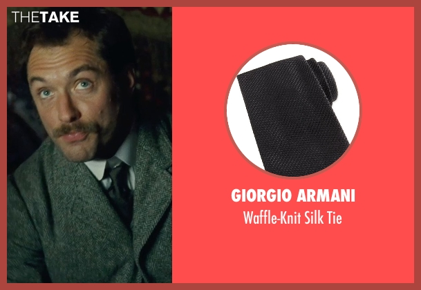 Giorgio Armani black tie from Sherlock Holmes: A Game of Shadows seen with Jude Law (Dr. John Watson)