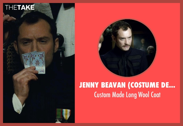 Jenny Beavan (Costume Designer) blue coat from Sherlock Holmes: A Game of Shadows seen with Jude Law (Dr. John Watson)