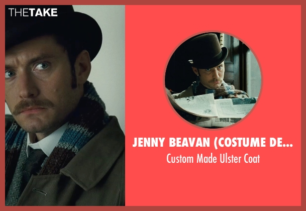 Jenny Beavan (Costume Designer) brown coat from Sherlock Holmes: A Game of Shadows seen with Jude Law (Dr. John Watson)