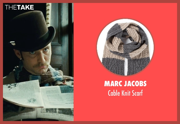 Marc Jacobs brown scarf from Sherlock Holmes: A Game of Shadows seen with Jude Law (Dr. John Watson)
