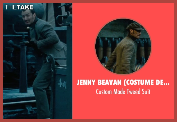 Jenny Beavan (Costume Designer) brown suit from Sherlock Holmes: A Game of Shadows seen with Jude Law (Dr. John Watson)