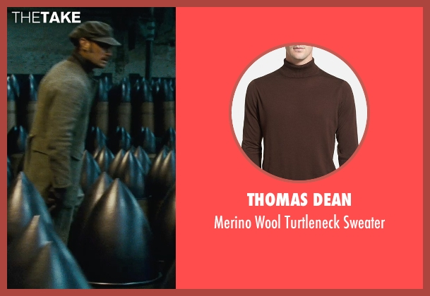 Thomas Dean brown sweater from Sherlock Holmes: A Game of Shadows seen with Jude Law (Dr. John Watson)