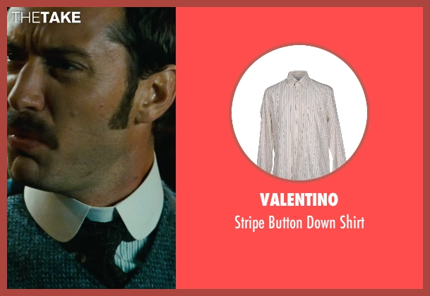 Valentino white shirt from Sherlock Holmes: A Game of Shadows seen with Jude Law (Dr. John Watson)