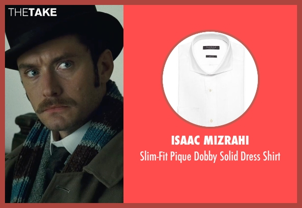Isaac Mizrahi white shirt from Sherlock Holmes: A Game of Shadows seen with Jude Law (Dr. John Watson)