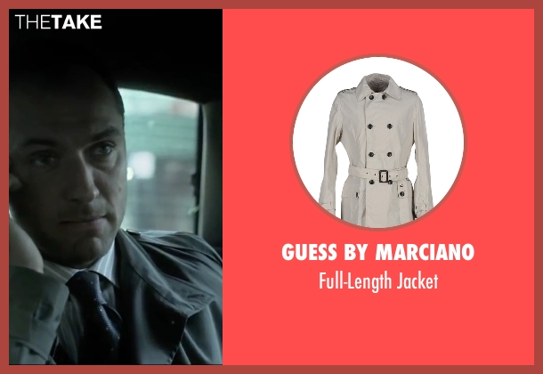 Guess by Marciano beige jacket from Side Effects seen with Jude Law (Dr. Jonathan Banks)