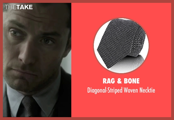 Rag & Bone black necktie from Side Effects seen with Jude Law (Dr. Jonathan Banks)