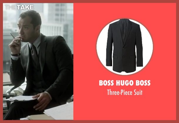 Boss Hugo Boss black suit from Side Effects seen with Jude Law (Dr. Jonathan Banks)