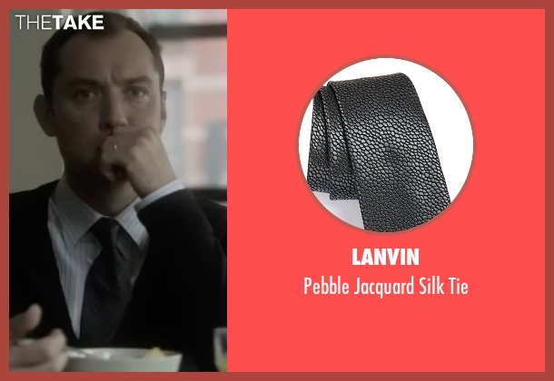 Lanvin black tie from Side Effects seen with Jude Law (Dr. Jonathan Banks)