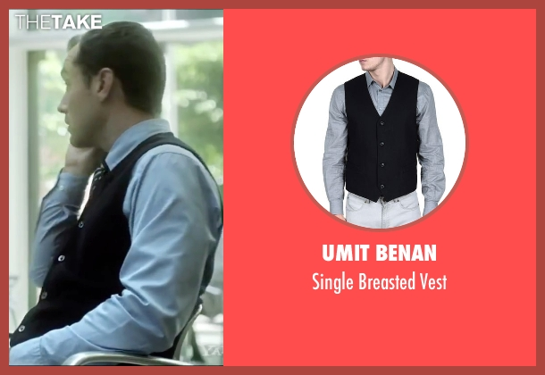 Umit Benan black vest from Side Effects seen with Jude Law (Dr. Jonathan Banks)