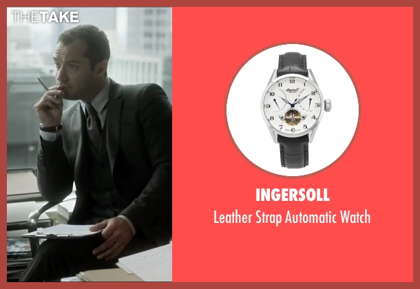 Ingersoll black watch from Side Effects seen with Jude Law (Dr. Jonathan Banks)