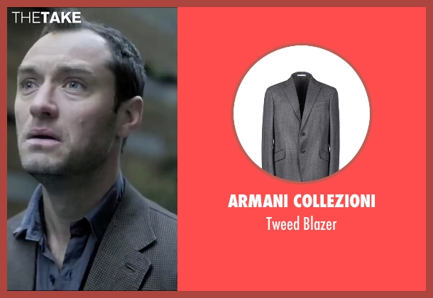 Armani Collezioni gray blazer from Side Effects seen with Jude Law (Dr. Jonathan Banks)