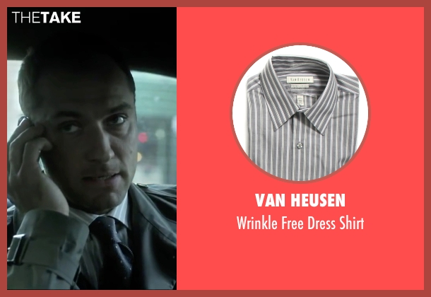Van Heusen gray shirt from Side Effects seen with Jude Law (Dr. Jonathan Banks)