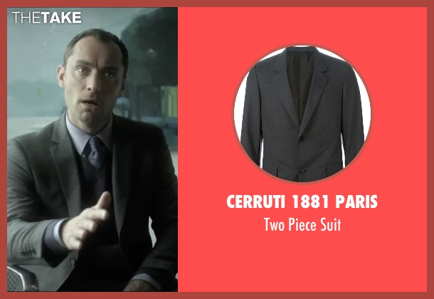 Cerruti 1881 Paris gray suit from Side Effects seen with Jude Law (Dr. Jonathan Banks)