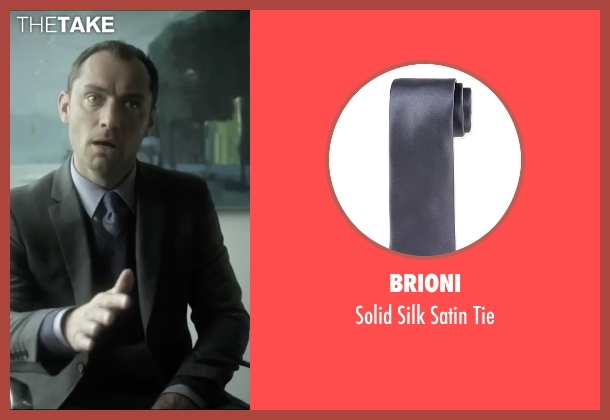Brioni gray tie from Side Effects seen with Jude Law (Dr. Jonathan Banks)