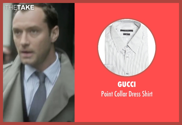 Gucci white shirt from Side Effects seen with Jude Law (Dr. Jonathan Banks)