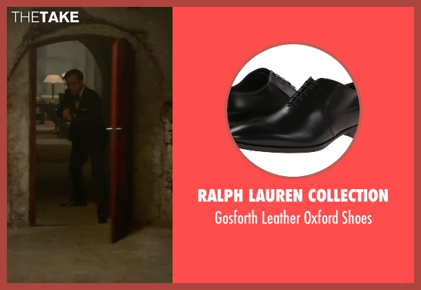 Ralph Lauren Collection black shoes from Spy seen with Jude Law (Bradley Fine)